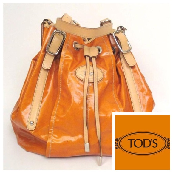 56863af58584d Tod's Bags   Nwot Tods Coated Canvasleather Trim Bucket Bag   Poshmark